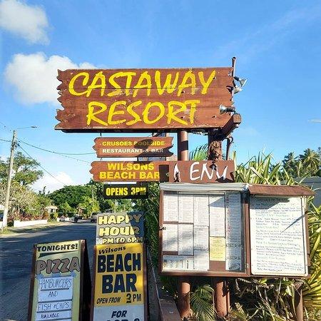 Wilson's Beach Bar - Castaway Resort Rarotonga: As seen from the road
