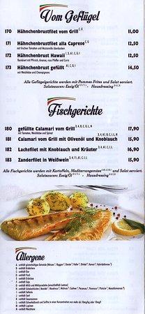Zum Siebenmühlental: Speisekarte