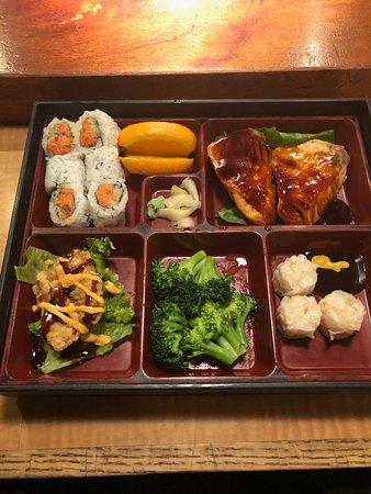 Kodama Sushi: Broadway Bento Box with Salmon