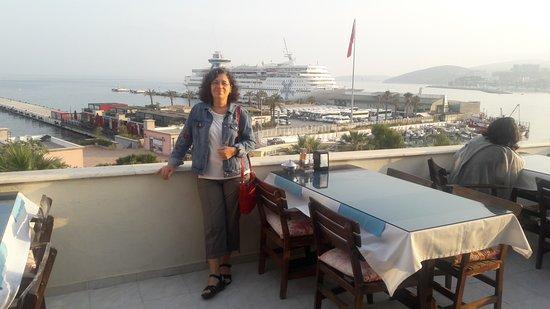 Mr Happy's - Liman Hotel: Kahvaltı edilen teras