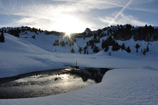 Schroecken, Austria: und noch ein Sonnenaufgang