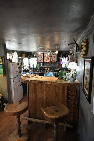 Cozy tasting area