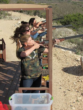 Mountain Home, TX: Sporting Clays is one of the many activities offered.