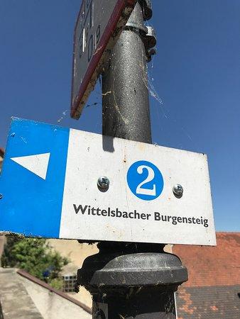 Kallmuenz, Germany: Sign to burg