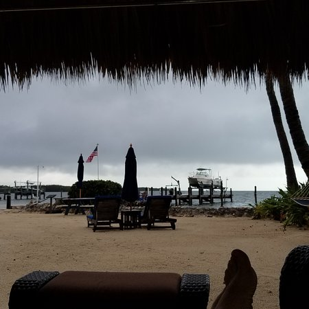 Island Bay Resort: Relaxing in the Cabana while a storm passed through