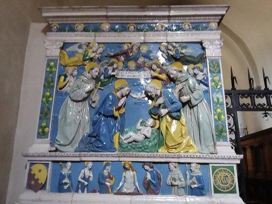 Chiusi della Verna, Italy: Natività di Andrea Della Robbia