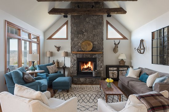 Crozet, VA: Family Room with Fireplace