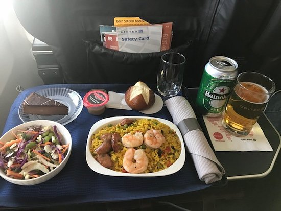 United Domestic First Class Lunch Picture Of United Airlines Tripadvisor