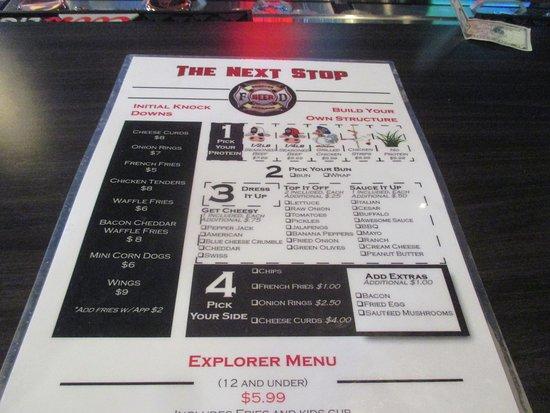 Somerset, วิสคอนซิน: Burger menu