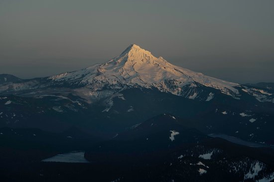 Troutdale, OR: Mt Hood at sunset