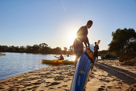 Garvey Park is the home of the Ascot Kayak Club who enjoy the beautiful Swan River