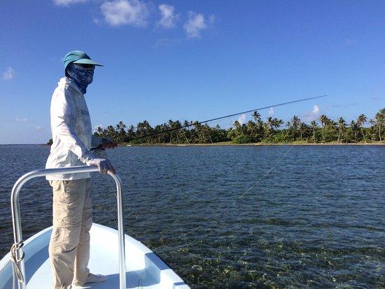 El Pescador Resort: flats fishing