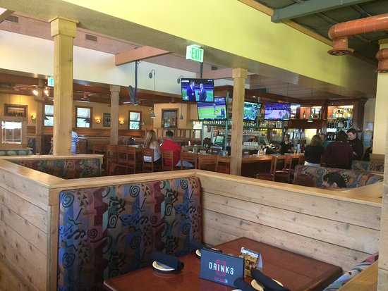 Whittier, CA: Inside seating, including the bar area.