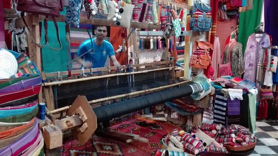 Medina of Tangier : Berber weaving
