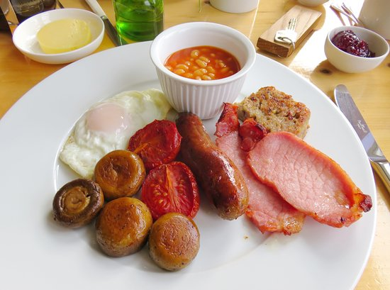 Colyford, UK: A classic English Breakfast at Swan Hill House (06/Apr/18).
