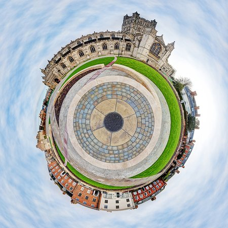 Gloucester Cathedral as a 'Little Planet'!