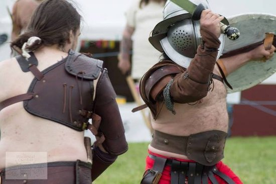 Wallsend, UK: Re-enactors the Historical Combat Company at one of our events