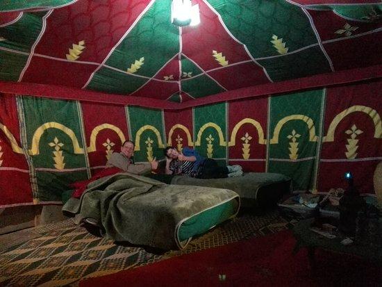 Laayoune-Boujdour-Sakia El Hamra Region, Maroko: Eines der Beduinenzelte