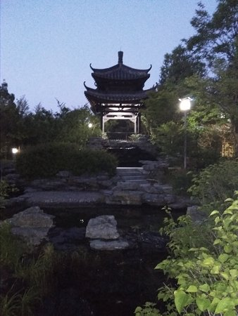 Wolhwawon Garden: A pagoda by the fountain