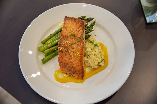Topsham, ME: seared salmon