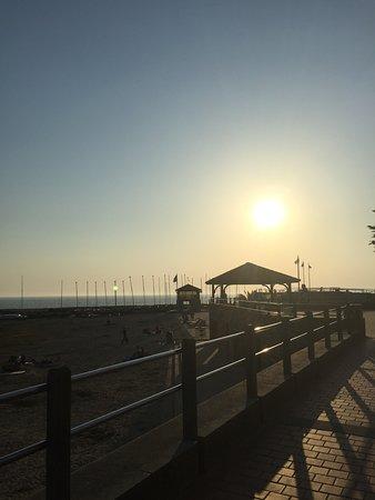 L'Oceanic: Après le dîner, coucher de soleil à 200m
