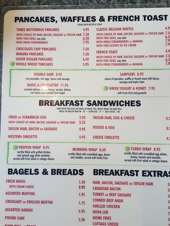 Union, Nueva Jersey: Breakfast selections