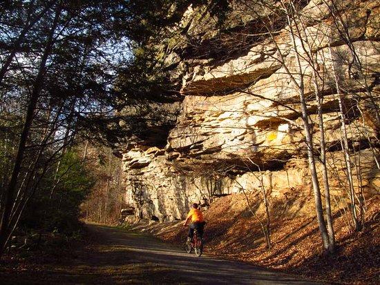 Norton, VA: Ride the Guest River Gorge trail.