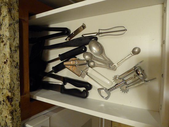 Elkhart Lake, WI: Drawer with Utensils in Suite