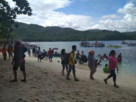 North Sulawesi, Indonesien: pemandangan pantai
