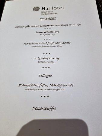 Niedernhausen, Alemania: Dinnerbuffet am Abend