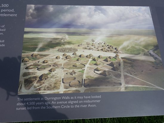 Durrington Walls : information panel of the supposed village