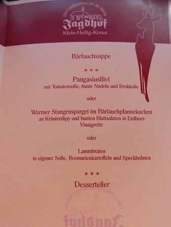 Großenlüder, Deutschland: inludiertes Menü