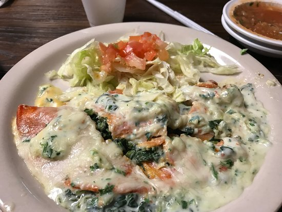 Royse City, TX: Spinach Enchiladas