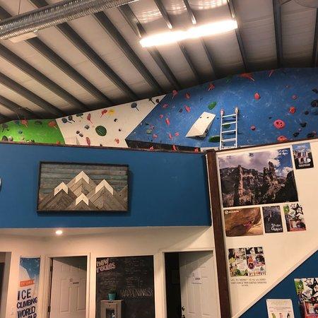 Cranbrook, Canada: An indoor climbing and child recreation center.