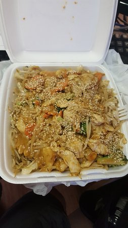 Chase, Canada: Thai peanut with chicken and noodles