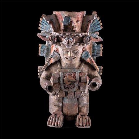 Museo Maya de Cancun y Zona Arqueológica de San Miguelito: Incensario Chen Mul. Z.A. de Dizibanché, Quintana Roo.