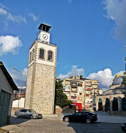 Korce, แอลเบเนีย: Clock Tower near the Mosque