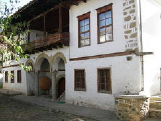 Korce, Albania: Museum from outside