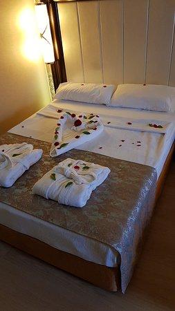Honeymoon room setting...