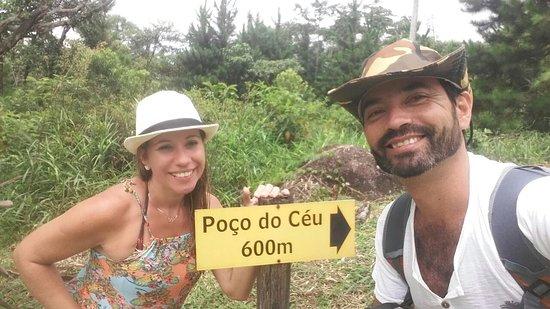 Poco do Ceu: Durante toda a trilha há sinalização