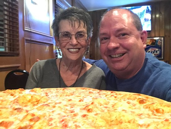 Neptune City, NJ: Thinnest crust pizza, we ate the whole thing.