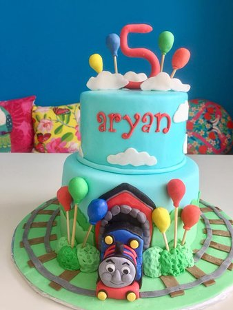Sweet And Savory Bistro Thomas The Train Birthday Cake