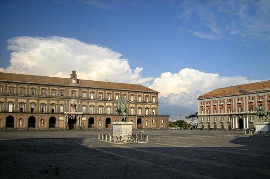 Rovine di Pompei e la città di Napoli