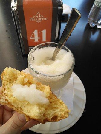 Prestipino Cafe : brioche con granita