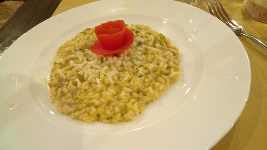Osteria La Mossa: risotto de fleurs de courgette