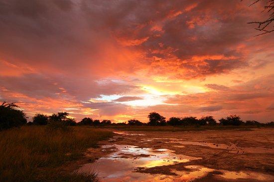 Nxai Pan National Park, بوتسوانا: Sunset after storm