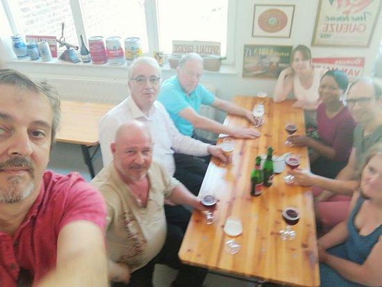 Beersel, Бельгия: Met de collega's op stap