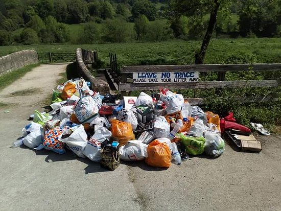Warleigh Weir: please note. There is no rubbish collection here. Unfortunately the majority of visitors are una