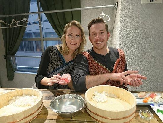 Nishi, ญี่ปุ่น: Sushi class_Making Nigiri sushi