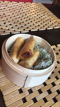 Lee's Chinese : vegan spring rolls